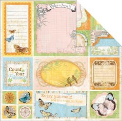 16463 Country Garden 2-Sided Cardstock Cut Outs.