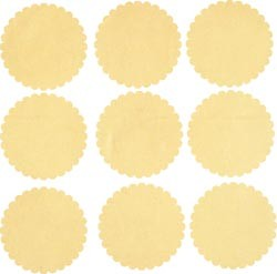 16905 Naked Scalloped Tag Cards 2.5X2.5 Inch 20/Pkg.