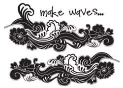 17412 Summer Soul Clear Stamp 4x6 cm Make WAves.