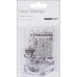 17415 Vintage Clear Stamp 105x77.5mm Treasure.