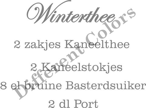 17424 Different Colors S00183 Winterthee.