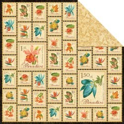 17660 Tropical Travelogue 2-Sided Paper Paradise Postage.
