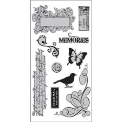 18009- 7 Gypsies Cling Stamps 10 x 20 cm Sheet Par Avion.