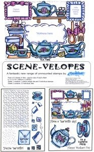18053 Scene-Velopes Tea Time UM 2 sheets A5 formaat.