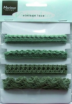 18207 Vintage Lace Christmas Green (JU0857).