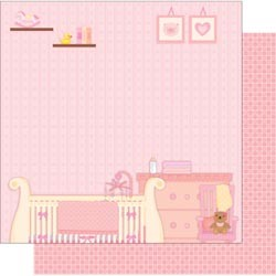 18598 Sweet Baby Glittered 2-Sided Cardstock Sweet Dream Girl.