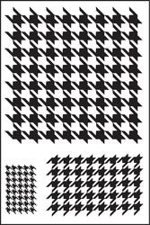 18686 Clear Stamps Houndstooth Singleton 3 Images 5 x 7 cm.