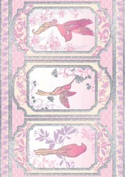 18875 Free As A Bird Die-Cut Punch-Out Sheet Peacock Flamingo Pink.