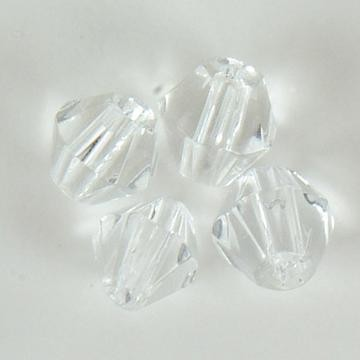 18997 Facetkralen Diamant Glas Transparant 4MM  35 ST [117471/2321].