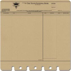19120 Die-Cut & Perforated Papers 30,5 x 30,5 cm Bank Statement Kraft.