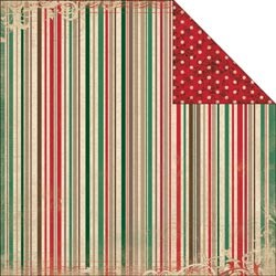 19355 Bo Bunny Rejoice 2-Sided Cardstock Stripe.