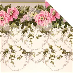 19768 Camilla Double-Sided Cardstock Floral Border.