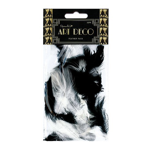 20056 Feather Pack - Art Deco - 30pk.