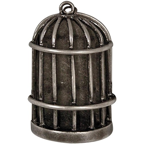 21140 Idea-Ology Metal Birdcage Antique Nickel With Flat Back (TH92987).