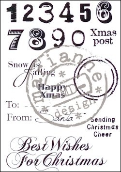 24209 Clear Stamp Eline`s Christmas Sentiments (EC0149).