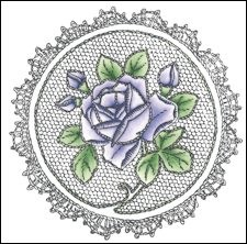 25996 Cling Stamp Roses (TC0830).
